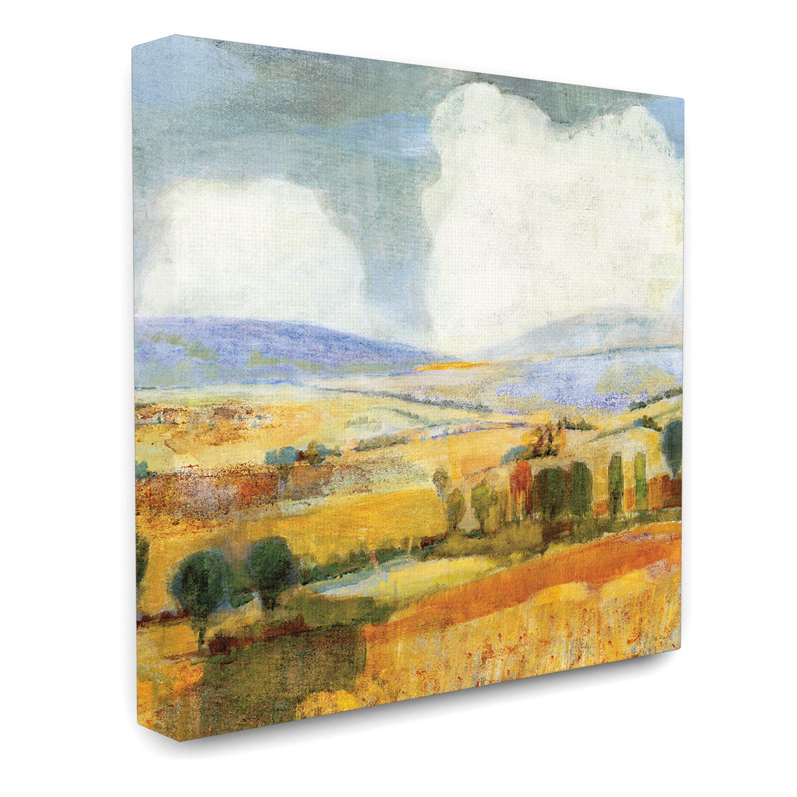The Stupell Home Decor Collection Golden Pastures Landscape Canvas ...