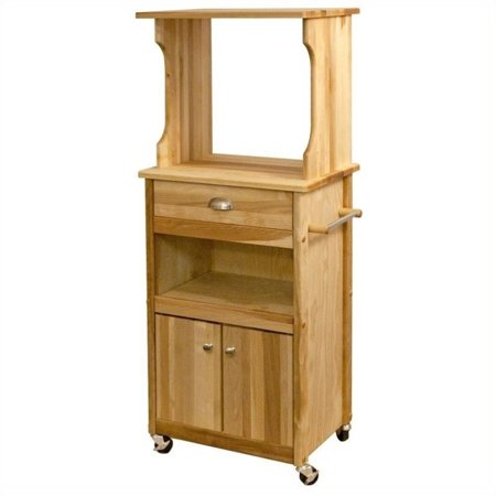 Scranton & Co Hutch Top Cart with Open Storage (Microwave Carts With Hutch)