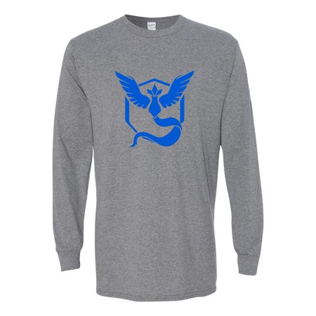 Pokemon Team Mystic Blue Boys Girls Long Sleeve (Game Boy Pokemon Gold)