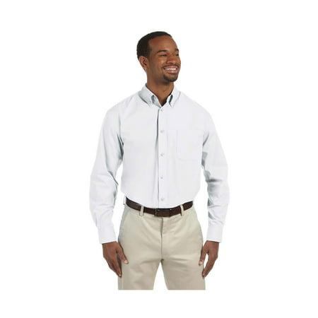 Harriton Men's Value Poplin DTM Buttons Dress Shirt, Style M510