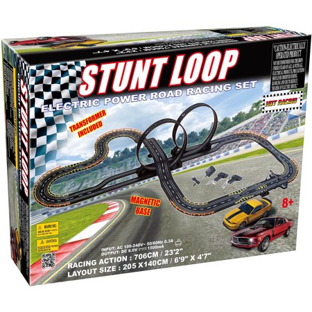 Electric Power Stunt Loop Road Racing Set