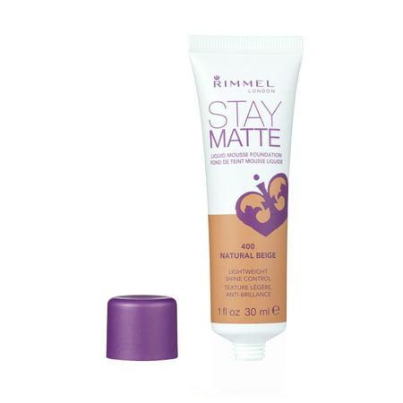 Rimmel Stay Matte Liquid Mousse Foundation in 400 Natural Beige