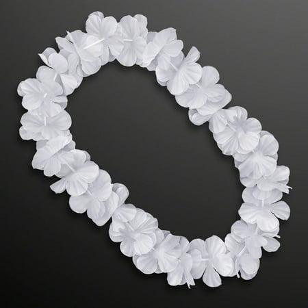 Hawaiian Flower Lei Necklace White by Blinkee Hawaiian Flower Necklace