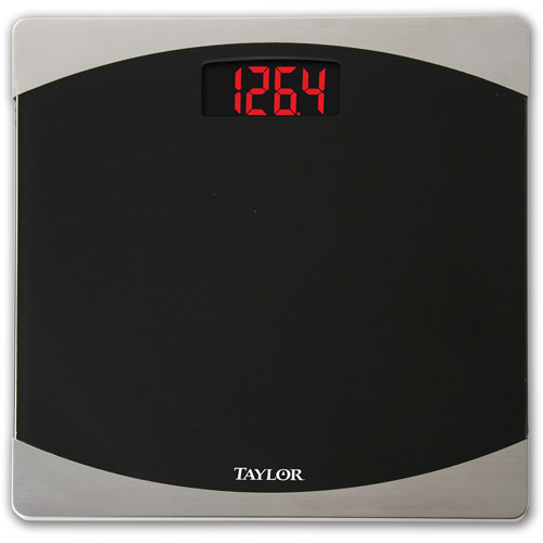 taylor black glass with stainless steel scale - walmart