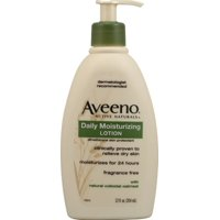 AVEENO Active Naturals Daily Moisturizing Lotion, Fragrance Free 12 oz (Pack of 2)