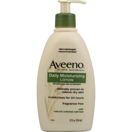 AVEENO Active Naturals Daily Moisturizing Lotion, Fragrance Free 12 oz (Pack of