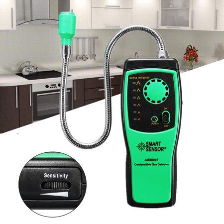 (Combustible Natural Gas Leak Detector Butane Methane Natural Analyzer Tester Location Determine meter Tester Safe With Sound Alarm Light Alarm)