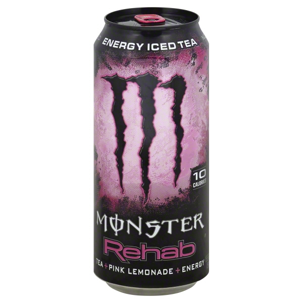 Monster Rehab Energy Iced Tea + Pink Lemonade + Energy, 15.5 FL OZ