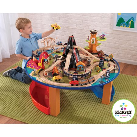 The Kidkraft Dinosaur Train & Table Play - Walmart.com