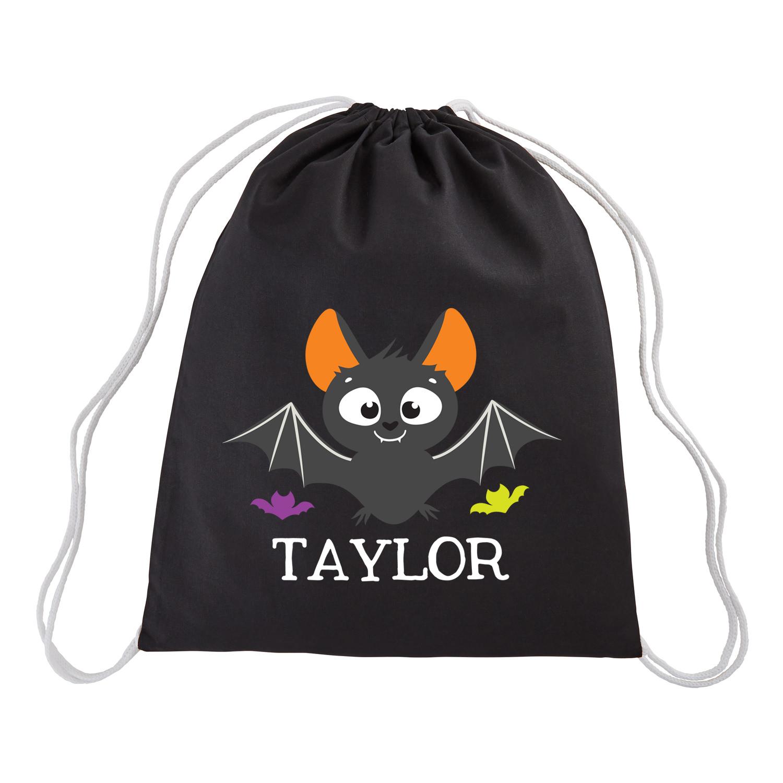 Personalized Cute & Spooky Halloween Treat Sack - Bat