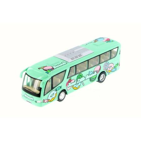 - Desserts Bus, Pastel Green w/ Decals - Kinsmart 7103D - Diecast Model Toy Car (Brand New but NO BOX)
