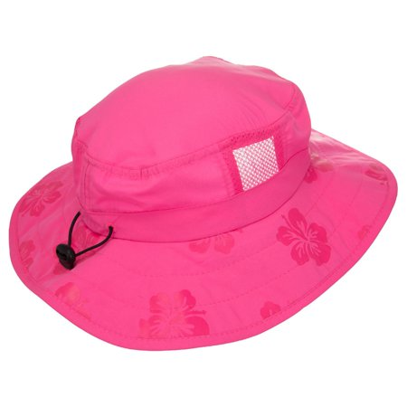 Kids UPF 50+ Safari Sun Hat - Pink (Aquamarine Hat)