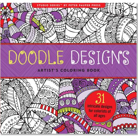 Doodle Designs Artists Adult Coloring Book
