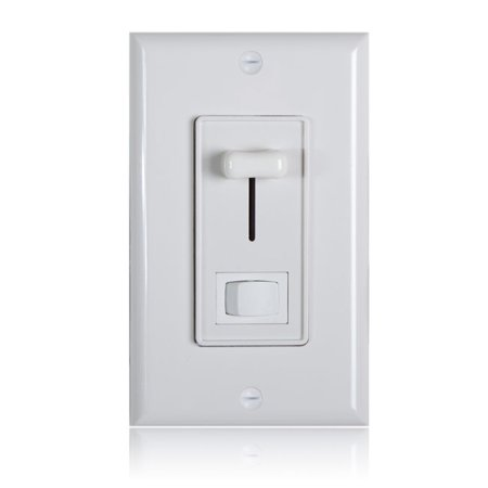 Maxxima 3-Way / Single Pole Dimmer Electrical light Switch 600 Watt max, LED Compatible, Wall Plate Included