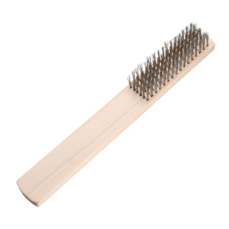 Stainless Steel Wire Brush Handle Tool for Cleaning Texturing Polishing 205mm ()