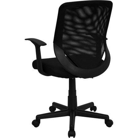 Mesh Mid Back Office Chair Black Walmart Com