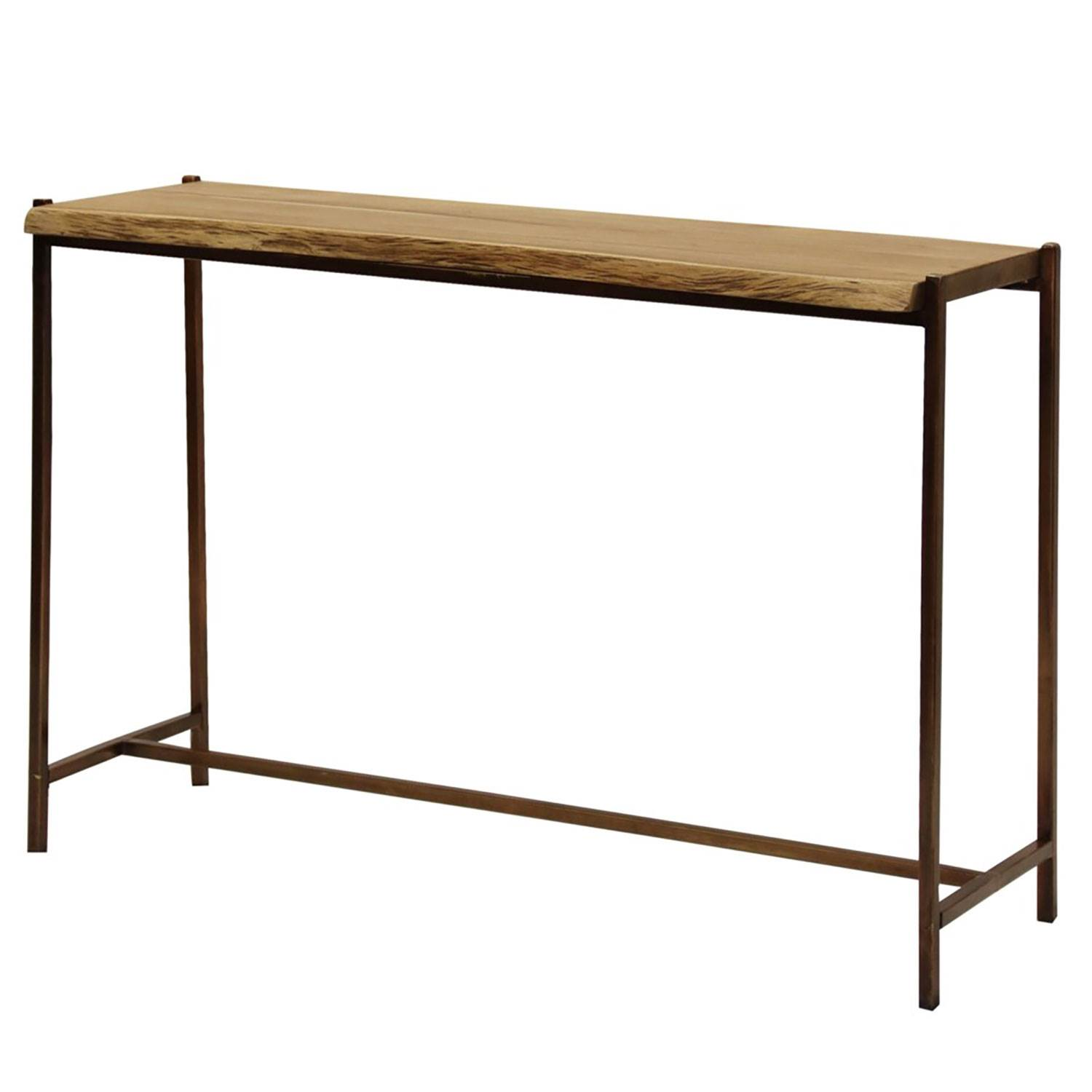Picture of: Abode 84 Live Edge Solid Teak Wood Console Table In Natural Stain Finish Walmart Com Walmart Com