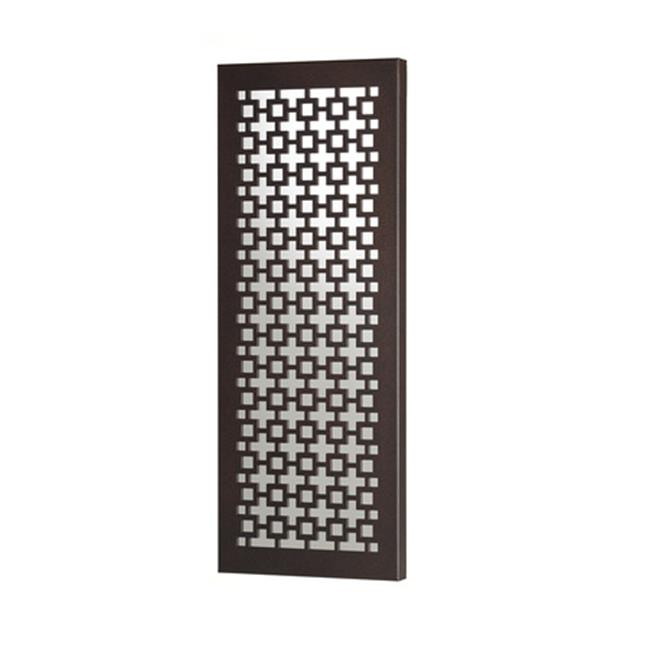 Metal Decor WA-2023-M-BRZ Squares Cocoa Spice Bronze Metal Mirror & Wall Decor Art