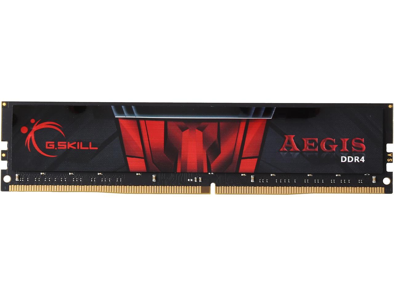 G.SKILL Aegis 16GB 288-Pin DDR4 SDRAM DDR4 2400 (PC4 19200) Intel Memory Model F4-2400C15S-16GIS