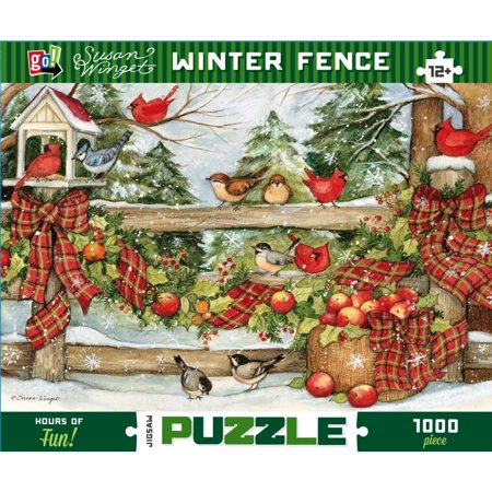 Susan Winget Winter Fence 1000 Piece Puzzle,  by Go! Games](Winter Puzzles)