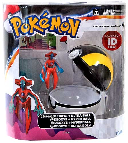 Pokemon Clip n Carry Pokeball Deoxys & Ultra Ball Figure Set