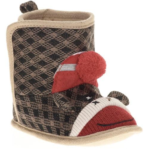 Baby Boys' Sock Monkey Boots