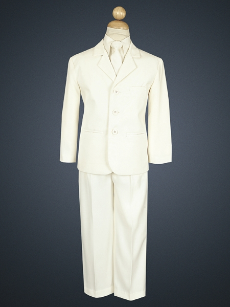 Boys' Ivory 5 Piece Suit