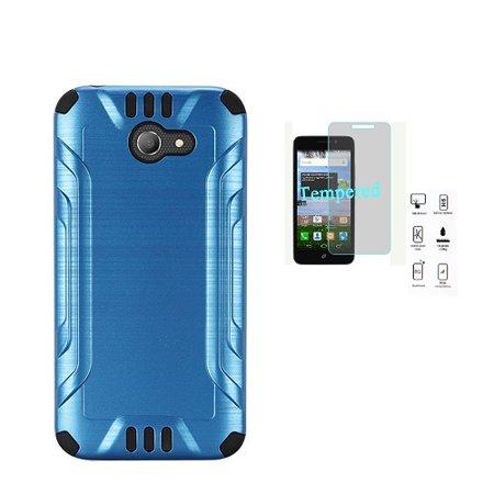 the best attitude 0e300 be91e Phone Case for Straight Talk Alcatel Zip, Alcatel A30 GSM (AT&T/T-Mobile),  Alcatel A30 (Verizon), Alcatel Kora Metallic Brush Finish Cover Case + ...