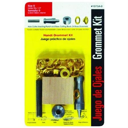 Lord and Hodge Inc. #0 Brass Handi-Grommet Kits 24 Count