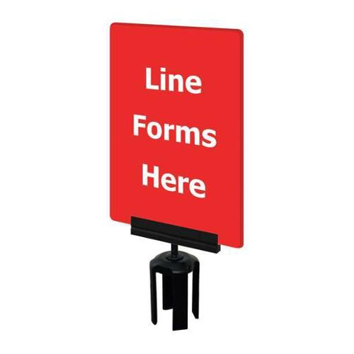 TENSABARRIER S17-P-21-7X11-V-HDSB-1701-33 Acrylic Sign, Red, Line Forms Here