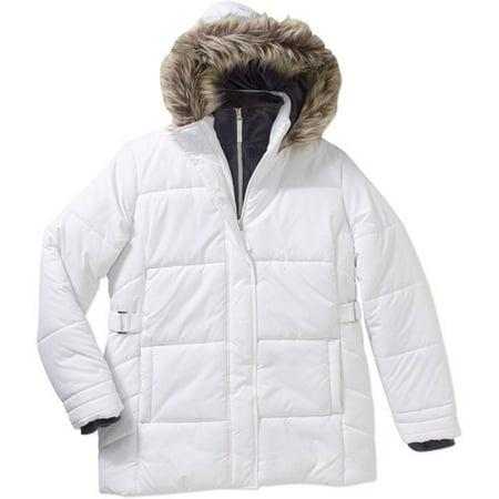 3cdd0cbf00e Free Tech - Free Tech Women s Plus-Size Heavyweight Hooded Puffer Coat With  Faux-Fur Trim - Walmart.com