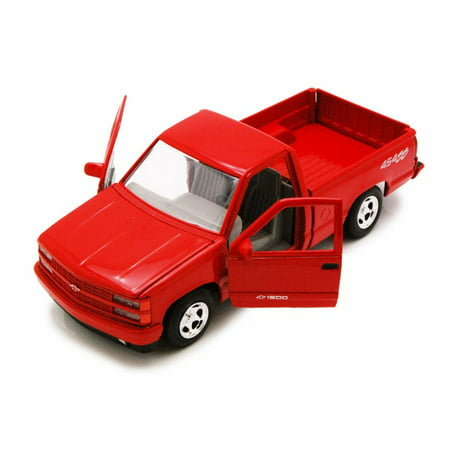 (1992 Chevy 454SS Pick Up truck, Red - Motor Max 73203AC - 1/24 Scale Diecast Model Toy Car)