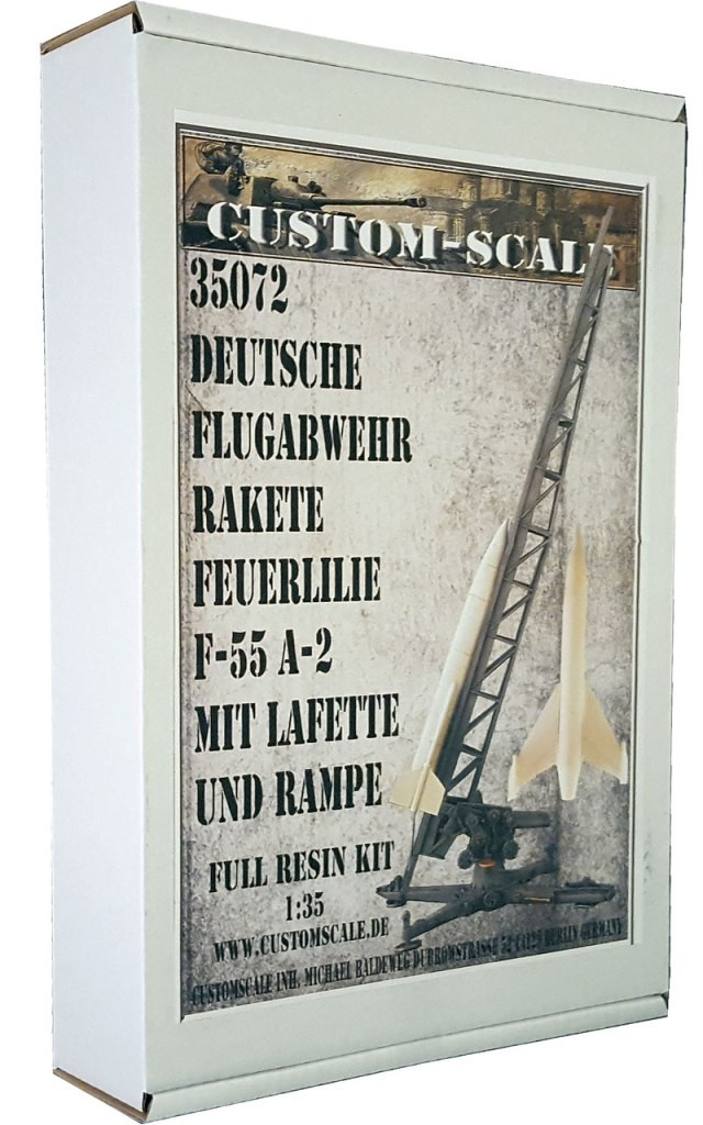 CustomScale 1:35 German AA Rocket Feuerlilie F-55 A-2 Launcher & Base Kit #35072 by CustomScale