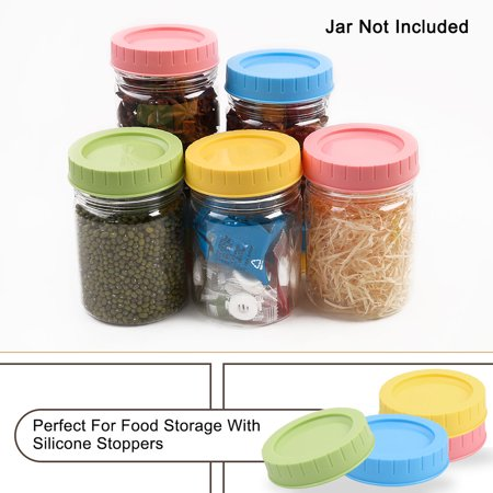 Colored Mason Jars Wholesale (Colored Plastic Mason Jar Lids Regular Mouth Mason Canning Jars Top Food Storage Replacement 16)