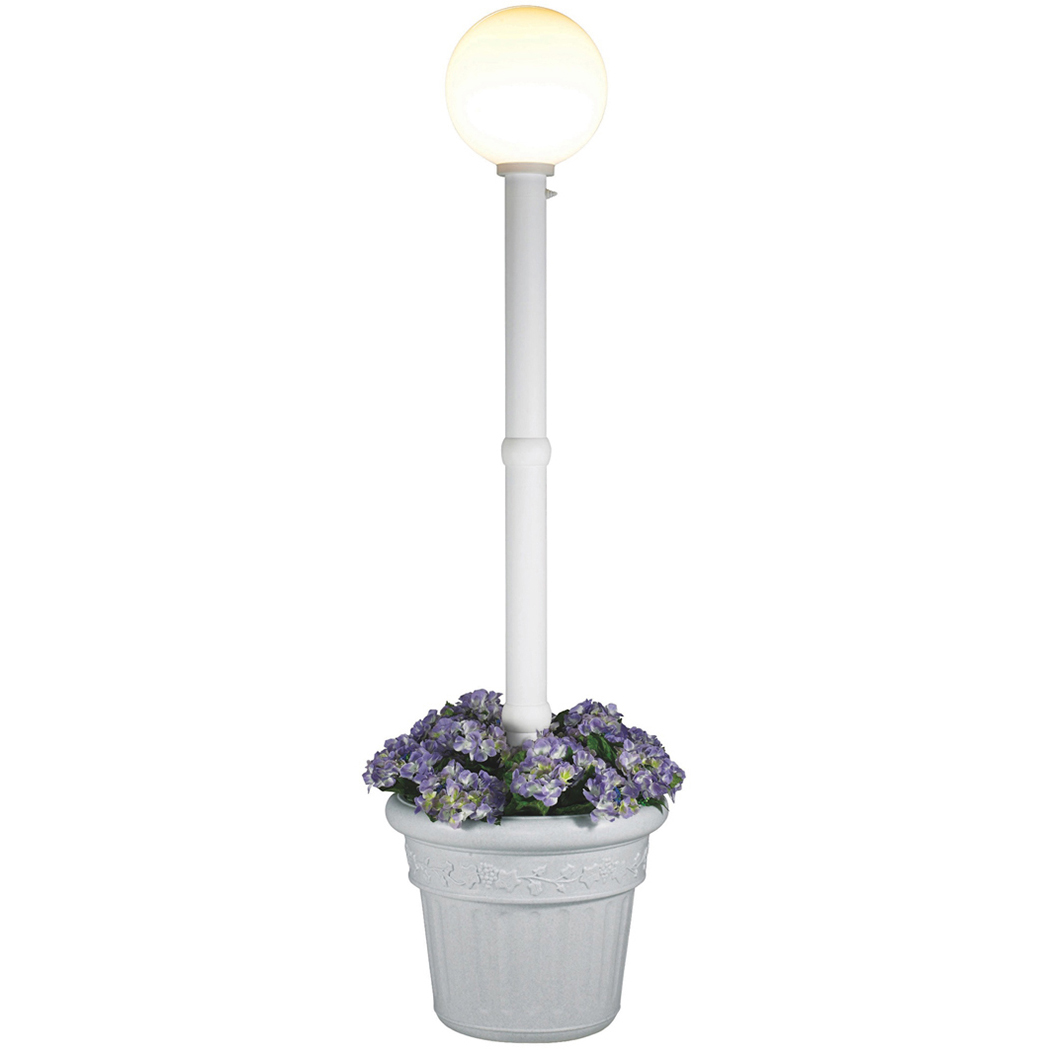 Patio Living Concepts Milano White with White Globe Lantern Planter by Patio Living Concepts