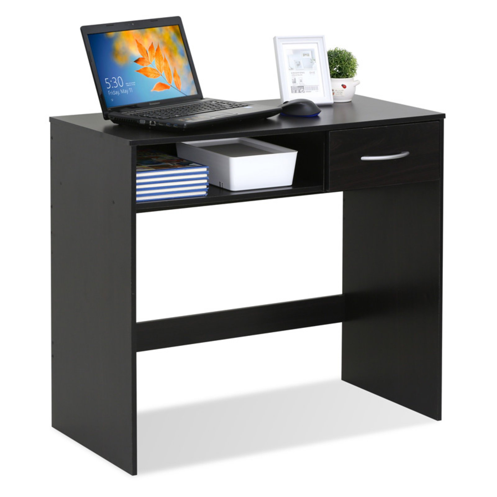 Furinno JAYA Computer Study Desk with Drawer, Espresso