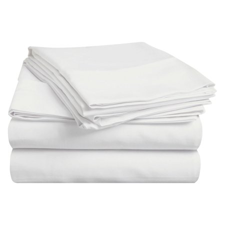 Superior 400 Thread Count Egyptian Quality Cotton Solid Sheet Set - Snow White Outfit Adults