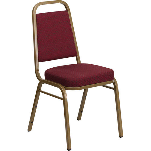 Flash Furniture 2.5'' Hercules Series Trapezoidal Back Stacking Banquet Chair with Gold Frame