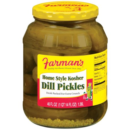 Farman 39 s home style kosher dill pickles 46 oz jar for Kosher home