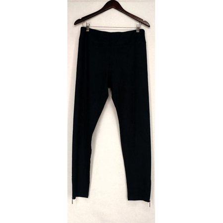 Sillin' Pants Sz M Faux Suede Zip Cuff Legging Blue Womens A428077 Dark Blue Faux Suede