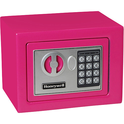 Honeywell 0.17 cu ft Small Security Safe, Pink