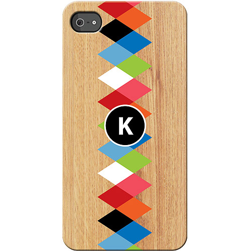Personalized Colorful Initial I Phone 4S Case