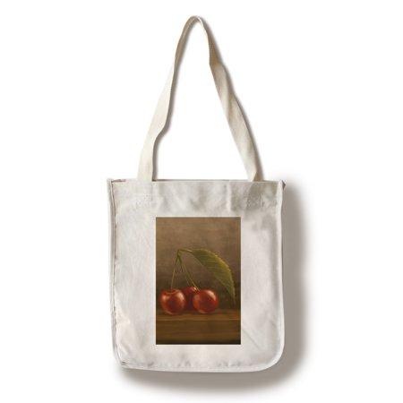 Screen Printing Tote Bags - Cherries - Oil Painting - Lantern Press Artwork (100% Cotton Tote Bag - Reusable)