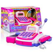 Cashier Toy Cash Register for Kids Playset - Pretend Play Set for Kids