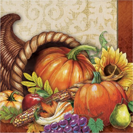 Harvest Thanksgiving Napkins, 48 count](Thanksgiving Party Supplies)