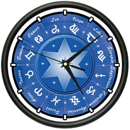 ZODIAC Wall Clock astrology sign star gift Star Wars Wall Clock