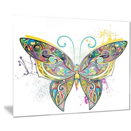 DESIGN ART Designart 'Openwork Butterfly' Digital Art Metal Wall (Openwork Metal)