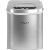 Magic Chef 27-Lb. Capacity Portable Countertop Ice Maker, Silver