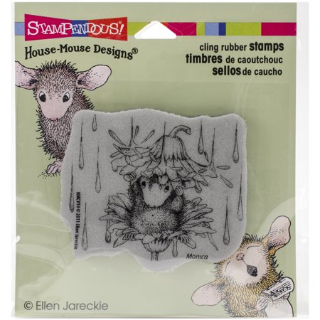Stampendous House Mouse Cling Stamp -Rain - House Mouse Rubber Stamps