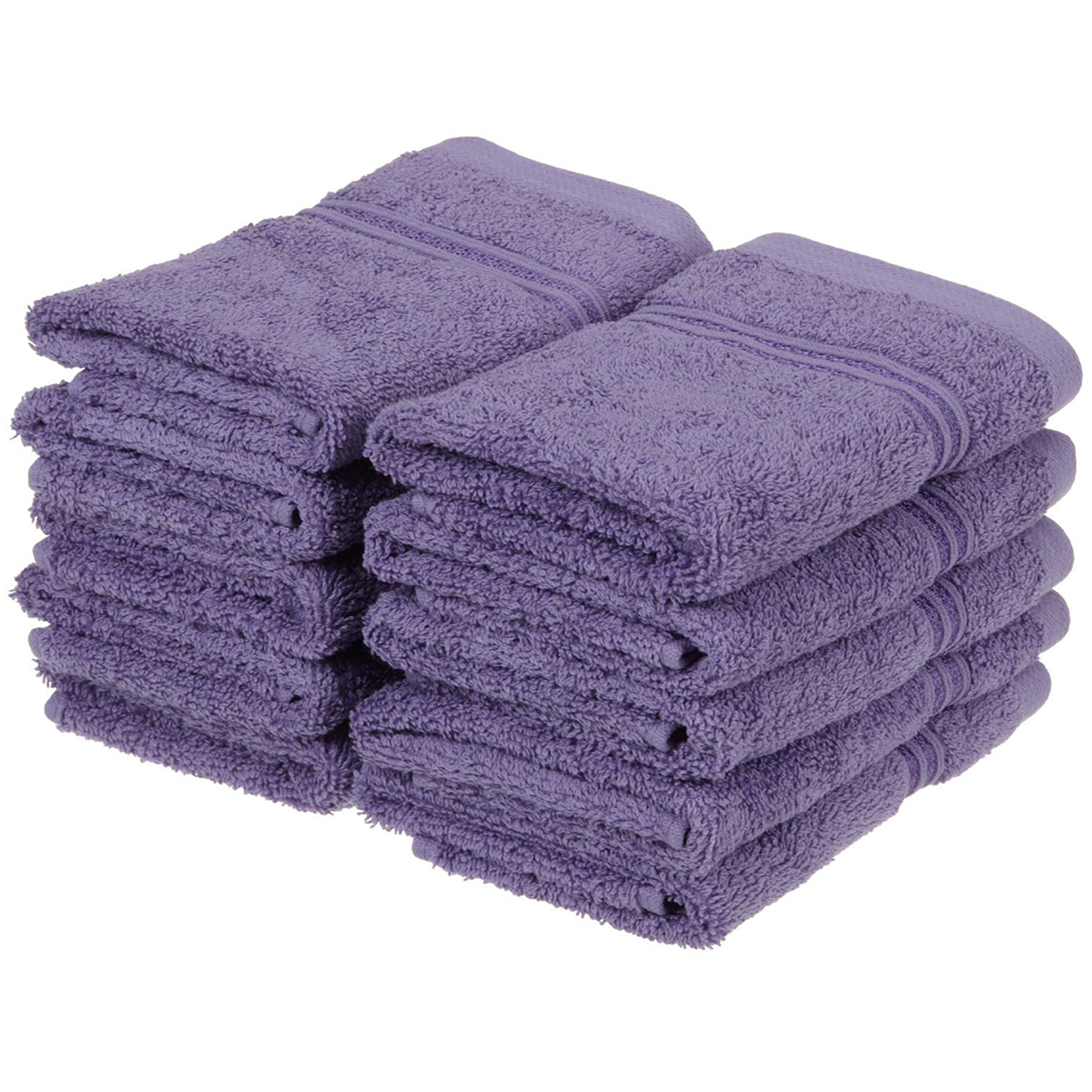 Superior 600GSM Egyptian Quality Cotton 10-Piece Face Towel Set